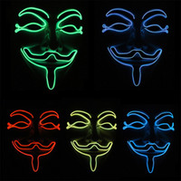 10 Colors Vendetta Glowing LED Mask Flashing Cosplay Party M...