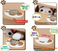 Cute Automatic Stole Coin Piggy Bank Panda Cat Money Box Mon...