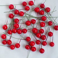 Artificial Flowers Stamens Foam Fruit Small Berries Cherry F...