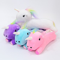 Cute Unicorn Plush Animal Pencil Case For School Supplies Gi...