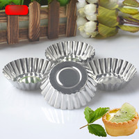 Disposable Aluminium Alloy Egg Tart Mould Baking Tool Cupcak...