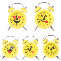 5 Style Cute Emoji Expression Table Clocks Mini Round Batter...
