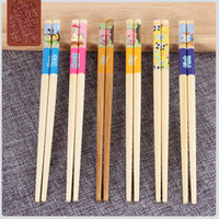 Cute Cartoon Natural Bamboo Chopsticks Kids Chopsticks Table...
