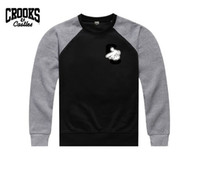 Wholesale Crooks and Castles thick round neck sweater Winter Autumn Men s Brand Hoodies Sweatshirts Casual Sports Male Hooded Jackets Men Coats Fleec