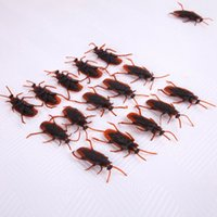 baby cockroach - 100pcs April Fool s Day Gags Practical Jokes Toys Cockroach Plastic Bugs Baby Toy Trick Joke Toy Funny Trick Toys Halloween Toys