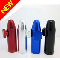 Wholesale New High Quality Snuff Boxes Dispenser Snorter Bullet Rocket Shape Durable Aluminum Nasal Gift