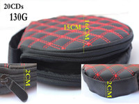 cd wallet - 2015 New fashion Car Storage CD Bags Compact disc Cases Capacity CDs White and Red Line CD wallets