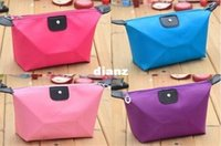 Wholesale New Arrive Folded Portable Dumpling Shaped Travel Make Up Cosmetic Pouch Toiletry Bag