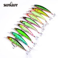 Wholesale 10pc Top Quality Sunlure Style Fishing Tackle Black Hook with feather Fishing Lures color Fishing Bait Hooks dw