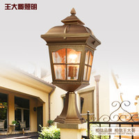 antique outdoor lamp post - Continental waterproof wall lamp American antique wrought iron garden lamp post lights wall lights outdoor lawn lights MF