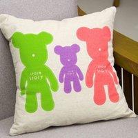baby room chairs - Cute Cartoon Bear Babies Room Bed Sofa Chair Decorative Pillow Case Cushion Car Cover Almofada Throw Pillowcases quot Soft Touch order lt no
