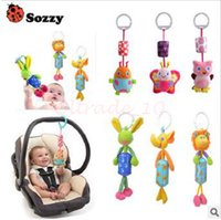 Wholesale 300pcs CCA3130 High Quality Sozzy Queen Baby Toy Bed Hanging Plush Doll Bell Wind Chimes Animal Wind Chime Rattles Mobiles Hanging Bell Toys