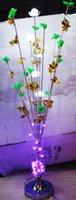 Wholesale creative new design indoor floor aluminum lamp new fashion desgin crystal lighting bulbs led lighting color change automatic