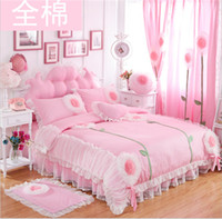 Wholesale Upsale D flowers Cotton Korean style bedding sets for princess Duvet cover for girl Bedding Supplies for family decorates