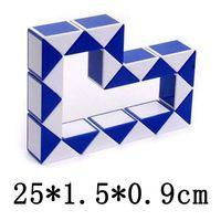 Wholesale Education Puzzles Children Baby Kids Twist Puzzle Toys Magic Snake Shape Toys Game CM D Cube Colos Puzzles MBF24