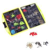 24 Compartments Fly Fishing Tackle Box complet Loaded Crochet Spoon Lure Sinker résistant à l'eau Outil accessoire de poissons