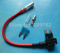 Wholesale NEW Add A Circuit Fuse Tap Piggy Back MINI Blade Fuse Holder ATM APM v v volt