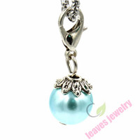 Wholesale new fashion trendy hot sell pendant sex Dangle Charm w Pearl Lobster Clasp Silver tone Dangles