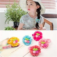 baby bear band - Children baby hair accessories headdress flower hair band candy colored cherries can Ailei Si pink rubber band head rope