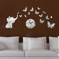 baby furniture design - top fashion hot baby mirrored acrylic wall clock modern furniture design living room mirror stickers background