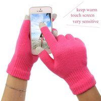 Wholesale Thick and Solft Winter Warm Touch Screen Gloves Capacitive Screen Conductive Cotton Gloves for Capacitive Screen Cellphone tablet