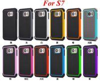 A prueba de choques de fútbol híbrido resistente impacto de plástico de silicona caso de doble protector para Samsung Galaxy S6 borde S7 A7 A8 A9 LG Nexus 5X V10