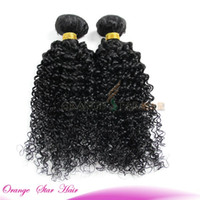 brazilian hair bundle jet black - 1pc Kinky Curly Human Hair Extensions Jet Black Brazilian Curly Hair Bundles Black Peruvian Malaysian Indian Hair Weaves Wefts quot quot EJ101