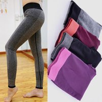 Wholesale Gym Fitness Clothes Running Leggings For Women High Waist Yoga Clothing Sports Slimming Pants Warm Slim Legging Workout Sport