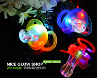Wholesale Light whistle flash whistle flash nipples pacifiers light led toy Party Supplies