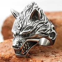 big jewelry seal - L Stainless Steel Seal Heavy Big Wolf Ring Fashion Biker Ring Jewelry Cool Silver Ring