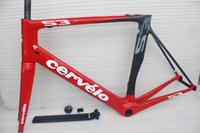 cadre velo carbone - 2015 Newest S road bike carbon frame Red colour Full carbon fiber bicycle frames cadres velo de carbone sell s5 r5 sl4 sl5 f8 frame