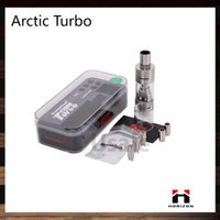 Bon Marché Réservoir de turbo arctique-Horizon Arctique Turbo atomiseur 4 ml Sous ohms Réservoir avec Intuitive Sextuple serpentins Turbine Système de refroidissement RBA Chef 100% d'origine