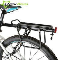 bicycle backpack holder - ROCKBROS MTB Mountian Bicycle Rear Rack Alloy Back Seat Quick Release Bike Carrier Holder Riding Bike Travel Luggage Rack