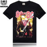 ac dc black ice - w151231 Rocksir Men T Shirt D T Shirt Tshirt Men s Shirt Cotton AC DC Black Ice Print Hip Hop Rock Summer Style Fashion Tee