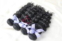 Cheap 6A Unprocessed Hair Weaves Best Peruvian Virgin Hair Deep Wave