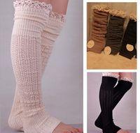 thigh high socks - 2015 spring autumn leg warmer lace stockings womens boot socks thigh socks Leggings foot cover socks knee high socks