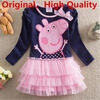 peppa pig clothing - Long Sleeve Peppa Pig Baby Girls Dress Pepa Pig Clothing For T T T T T Children NF137