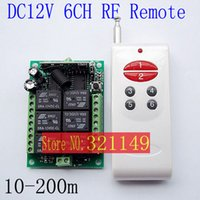 Wholesale DC12V Channel Remote Control Switch System LED SMD Light Controller Radio Wireless Switches MHZ Momentary Toggle Latched