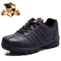steel toe cap - Extra large safety shoes steel toe cap covering steel midsole wear resistant hiking safety shoes sandals male genuine leather