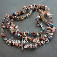 bead shaper - New Arriver Gem Stone Jewelry Multicolor Long Chip Beads Necklace mm Baroque Shaper Hot Sale New