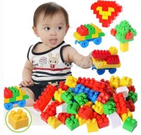 Wholesale Large Mega Plastic Particles with Handbag First Building Blocks with Wheels Educational Children Toys