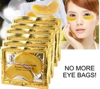 Wholesale Crystal Collagen Bio - Face Treatments Masks 20 pcs (10 packs) 24k Gold mask Bio Crystal Collagen Eye Mask Patch Anti aging anti winkle whitening oil