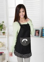 work apron - Korean Style Princess Aprons Hotel Cafe Work Aprons Lady Lovely Delantal Cotton Apron with big Pocket Cooking Kitchen Avental