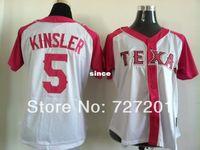 baseball kinsler rangers - 30 Teams Cheap New Arrival Lady Women Baseball Jersey Texas Rangers Ian Kinsler Jersey Embroidery Logos