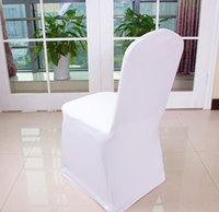 Wholesale by dhl or fedex Universal Polyester Spandex Wedding Chair Covers for Weddings Banquet Folding Hotel Decoration white