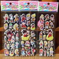 baby dragon stickers - 2015 New Dragon Ball Z Goku Anime Cartoon Stickers D PVC Adhesive Bubble Stickers Kids Classic Toys Craft For baby Children s gifts