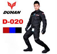 motocross clothing - Authentic DUHAN D020 racing suit Jacket Pants men motocross motorcycle riding clothes clothing Jackets pant trousers drop resistance
