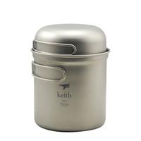 Wholesale New Only g Titanium Pot Cooking Pot Set Camping Cookware Folding Bowl Ti6051
