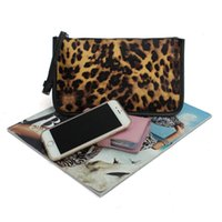 Wholesale New Evening Bag Leopard Printed Women Clutches Bags PU Leather Handbags Trendy Coin Purse Notecase Elegant