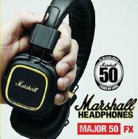 Cheap Free Shipping Marshall Major FX50 Anniversary On-Ear HiFi Stereo Headphone Music Earphone Headset with Microphone